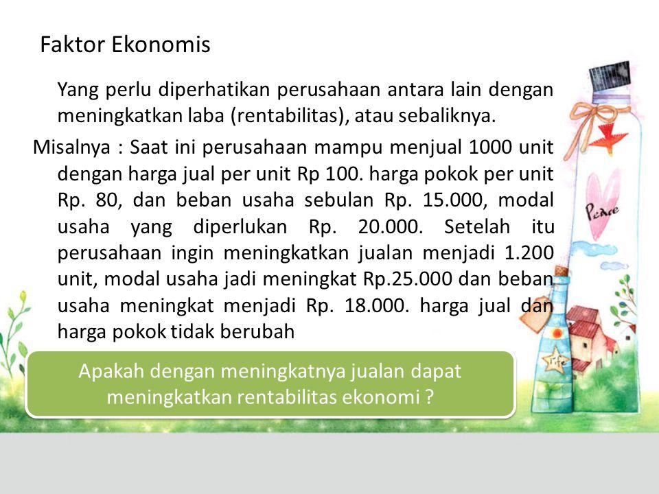 Faktor Ekonomis