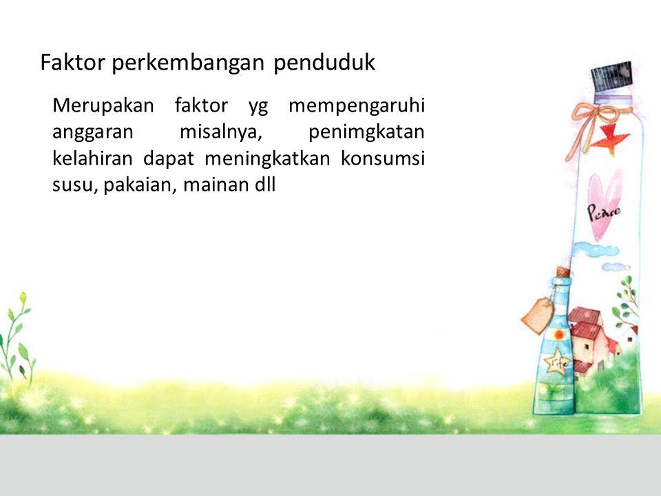 Faktor perkembangan penduduk