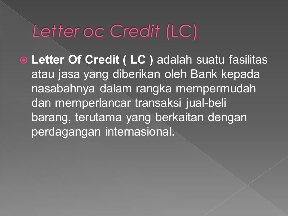 Letter oc Credit (LC)
