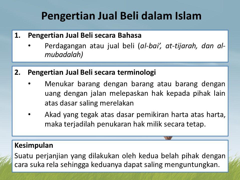 Pengertian Jual Beli dalam Islam