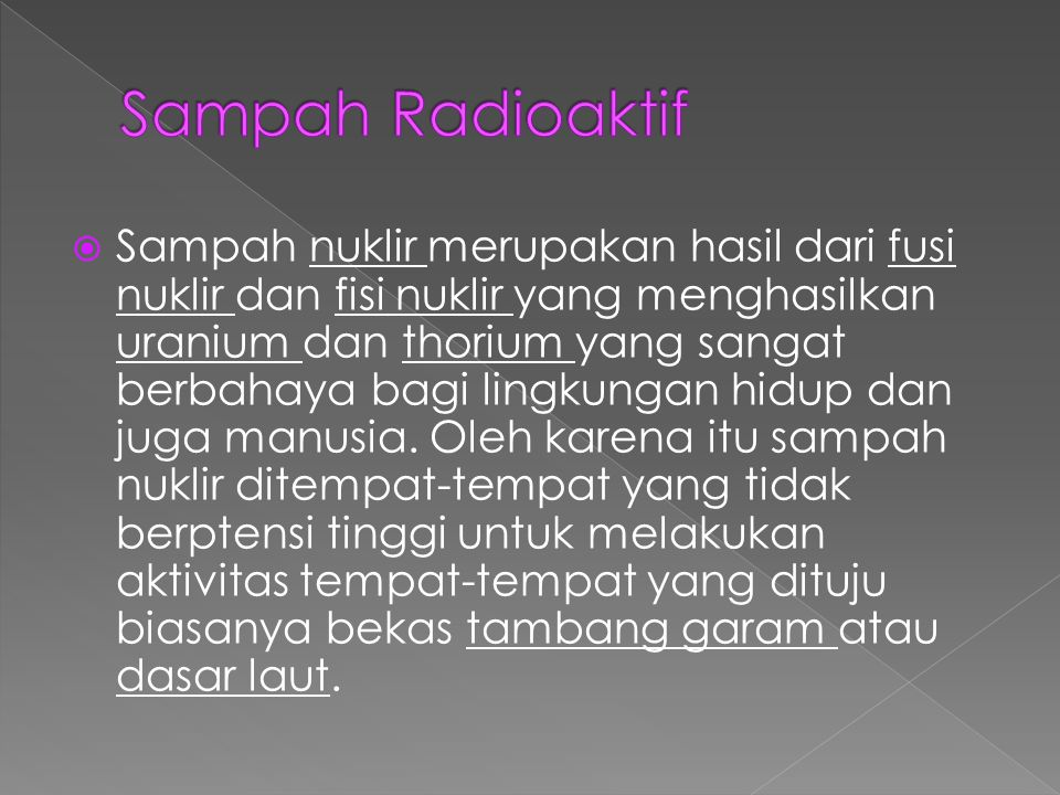 Sampah Radioaktif