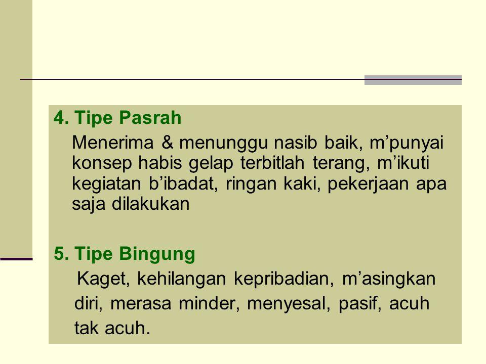 4. Tipe Pasrah