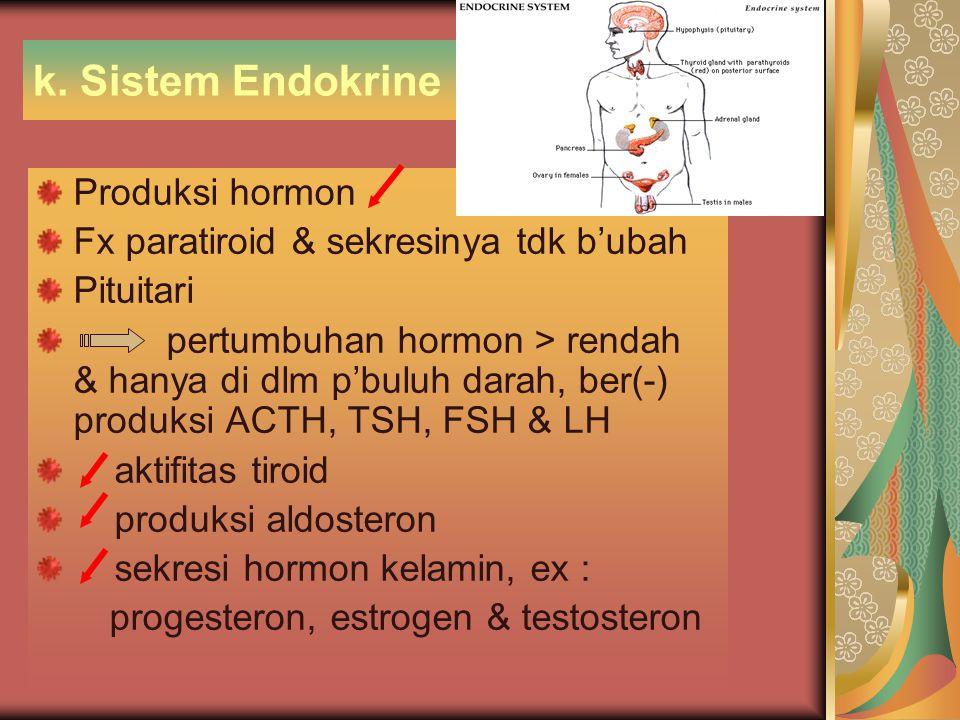 k. Sistem Endokrine Produksi hormon