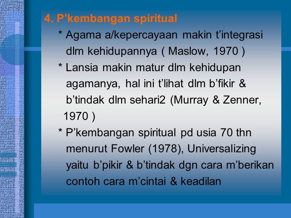 4. P'kembangan spiritual