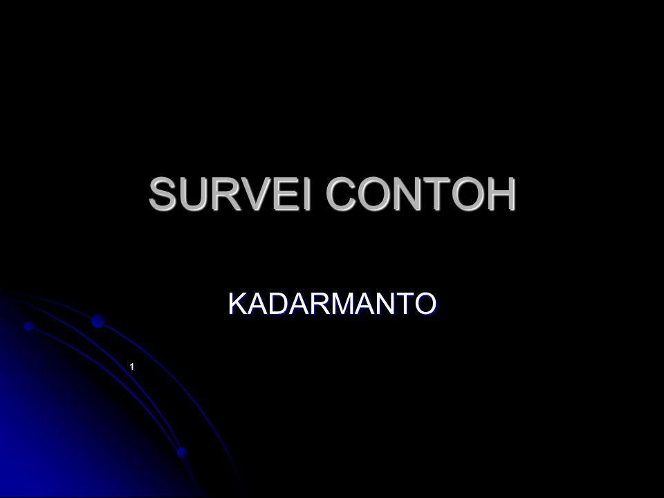 SURVEI CONTOH KADARMANTO