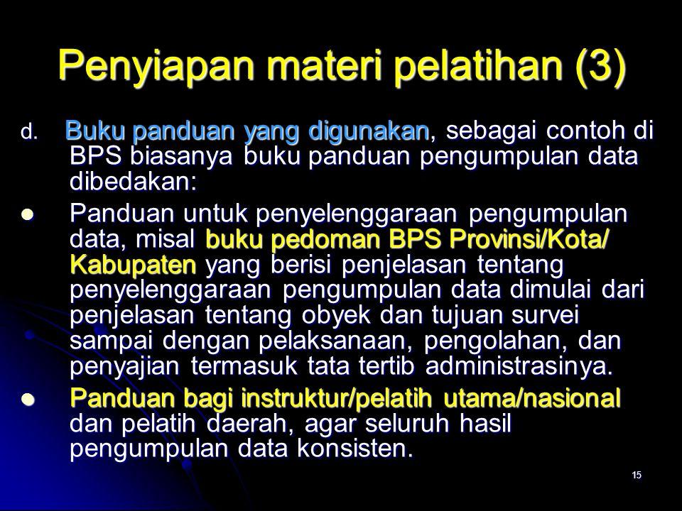 Penyiapan materi pelatihan (3)