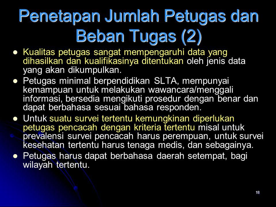 Penetapan Jumlah Petugas dan Beban Tugas (2)
