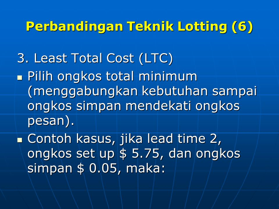 Perbandingan Teknik Lotting (6)