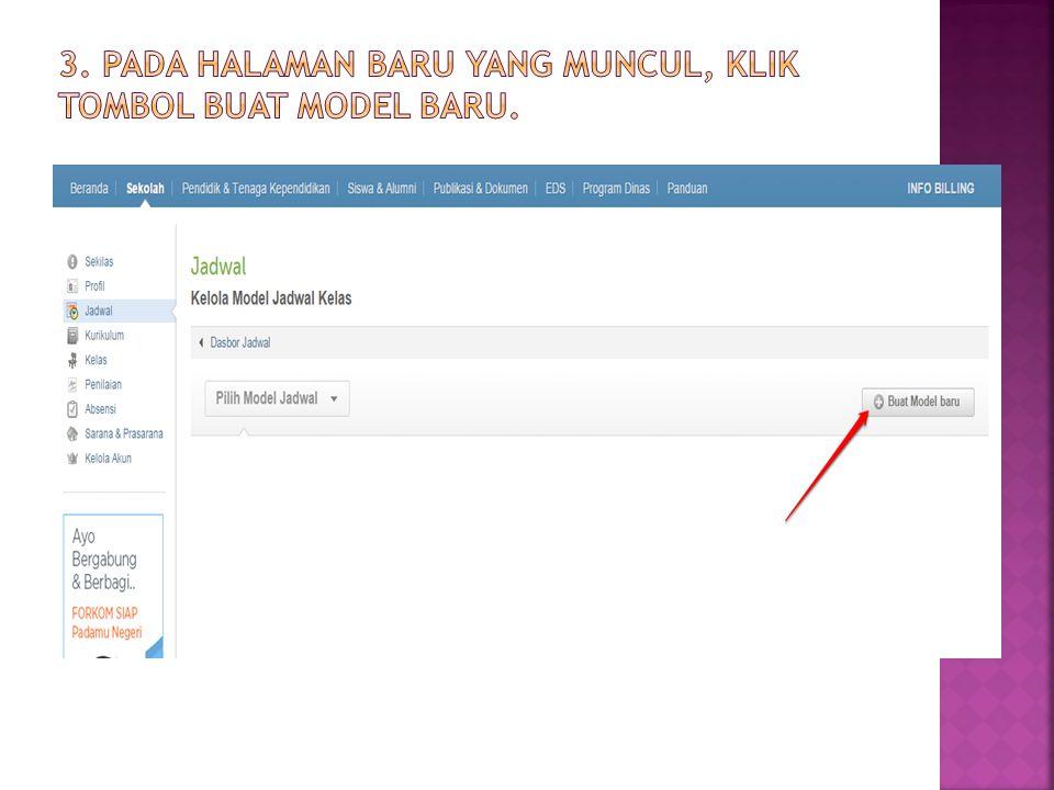 3. Pada halaman baru yang muncul, klik tombol Buat Model baru.