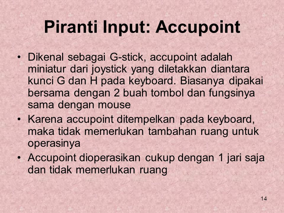Piranti Input: Accupoint