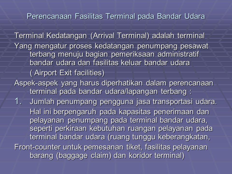 Perencanaan Fasilitas Terminal pada Bandar Udara