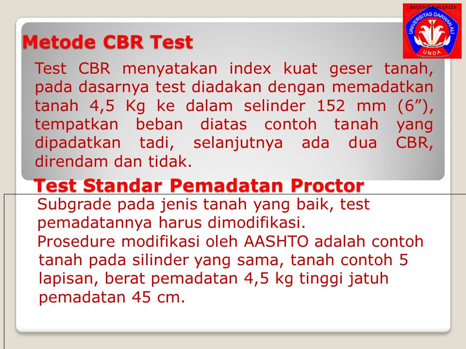 Test Standar Pemadatan Proctor