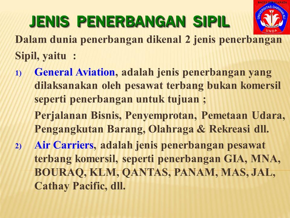JENIS PENERBANGAN SIPIL