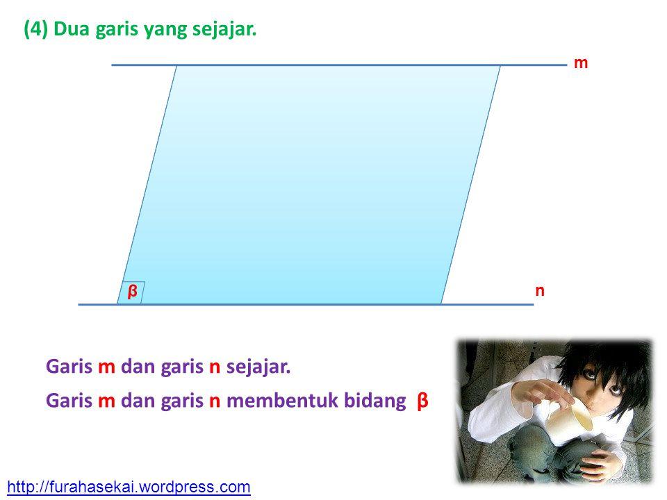 (4) Dua garis yang sejajar.