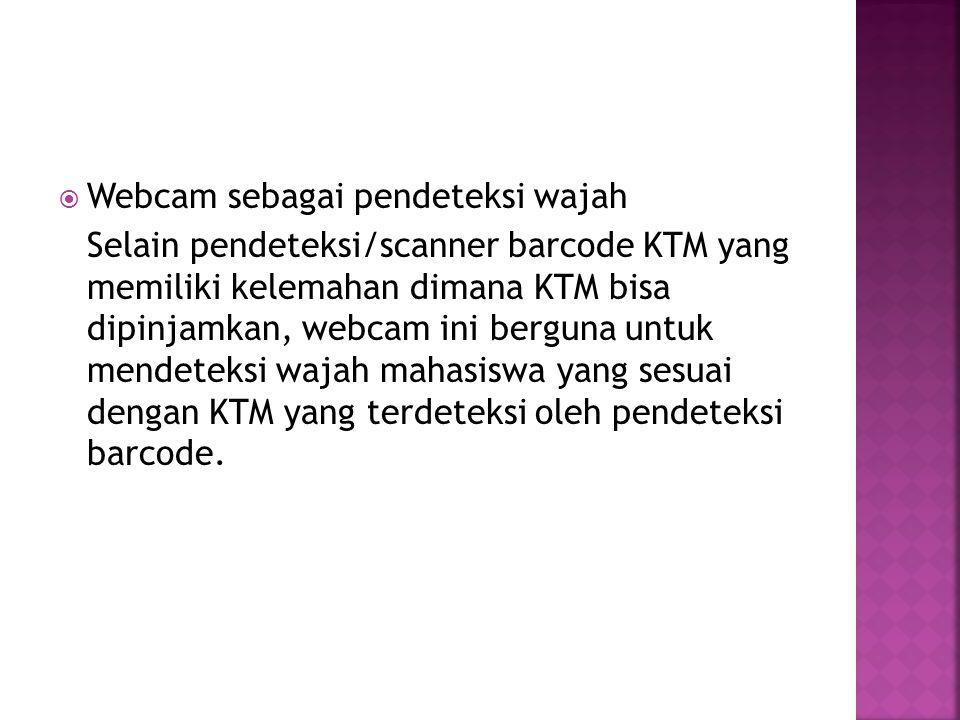 Webcam sebagai pendeteksi wajah