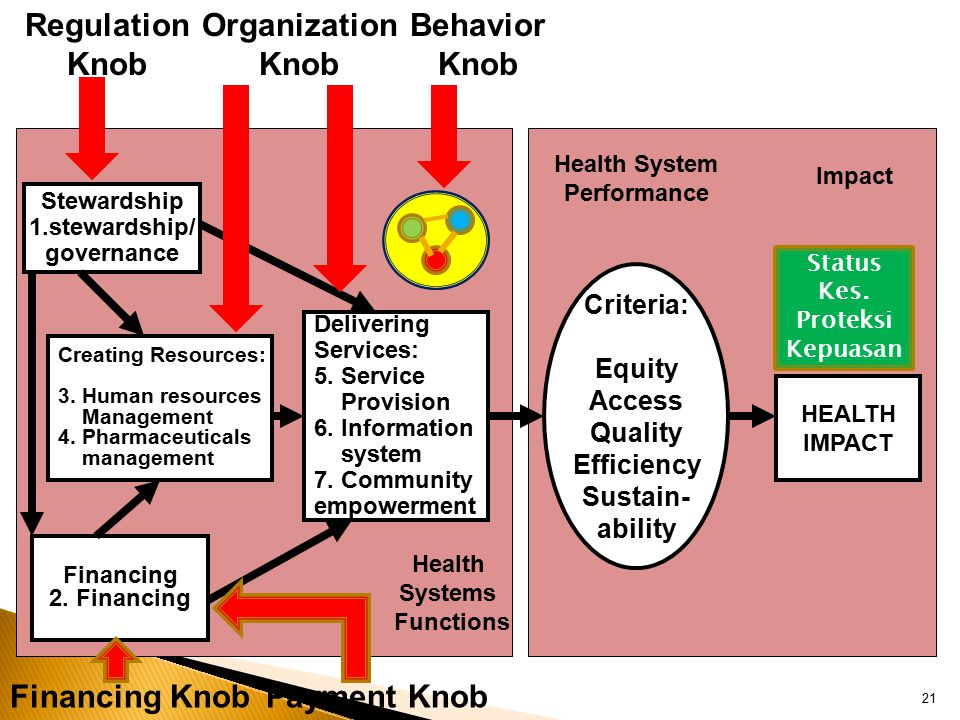 Regulation Knob Organization Knob Behavior Knob