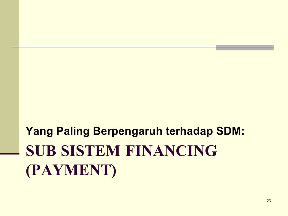 Sub sistem financing (payment)
