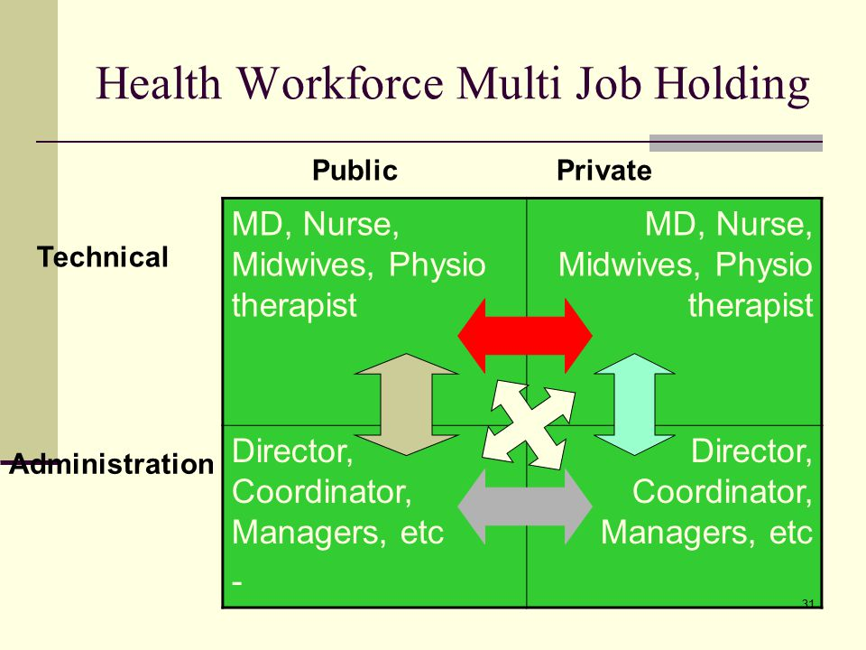 Health Workforce Multi Job Holding