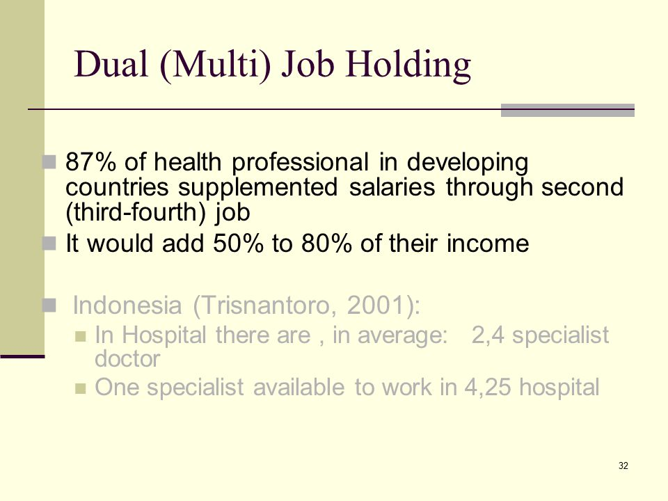Dual (Multi) Job Holding