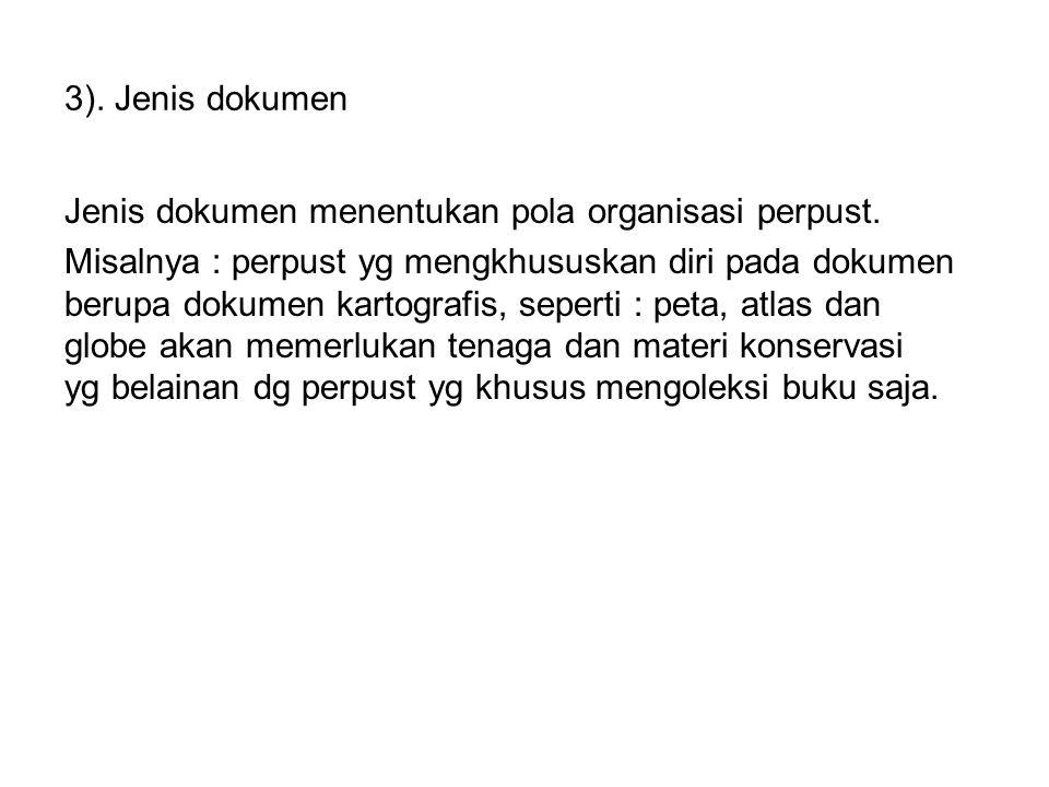 3). Jenis dokumen