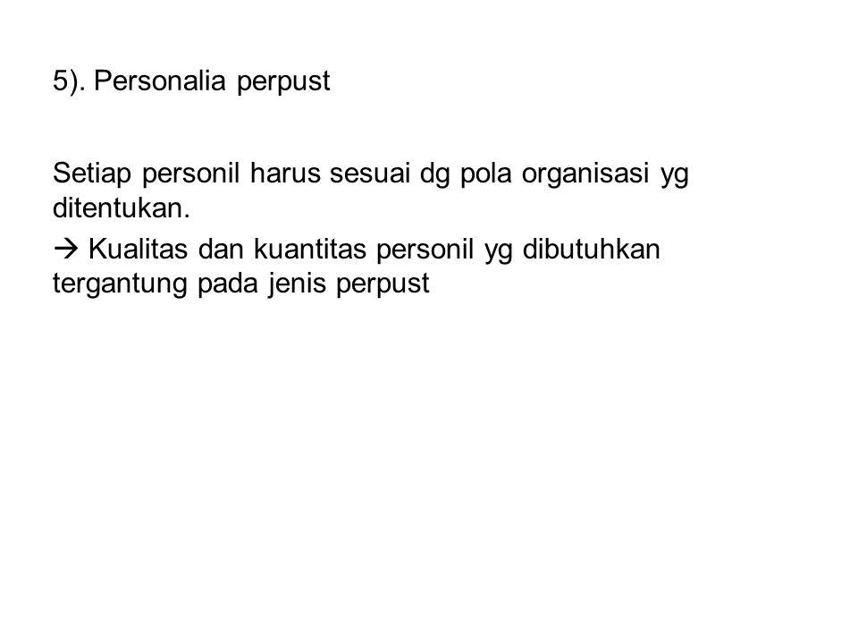 5). Personalia perpust