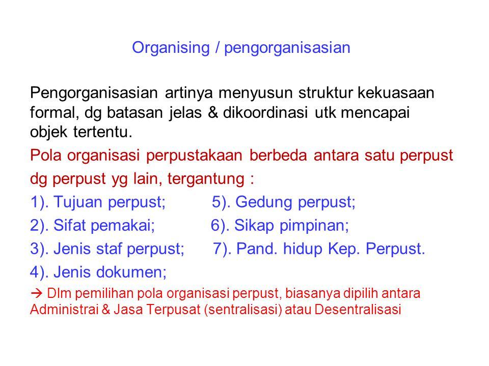 Organising / pengorganisasian
