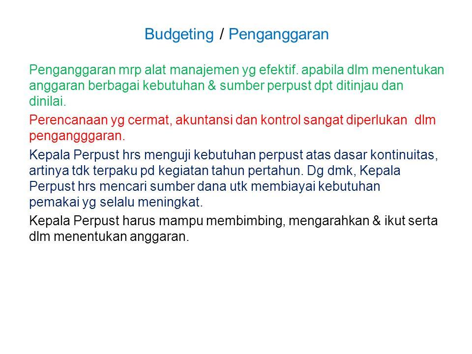 Budgeting / Penganggaran