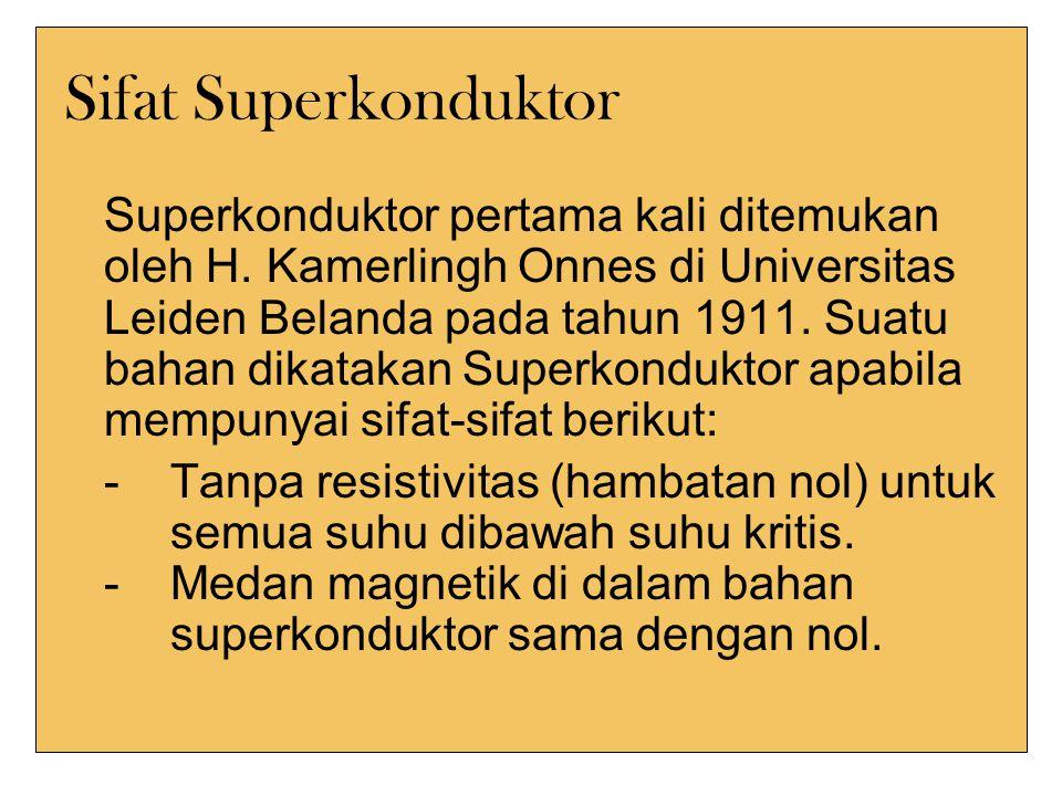 Sifat Superkonduktor