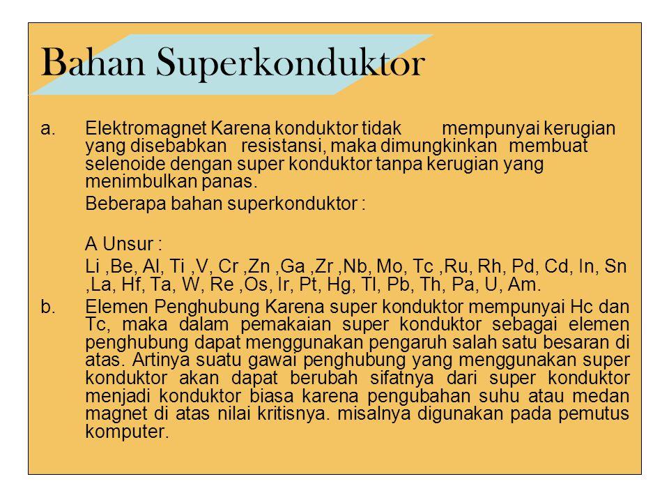 Bahan Superkonduktor