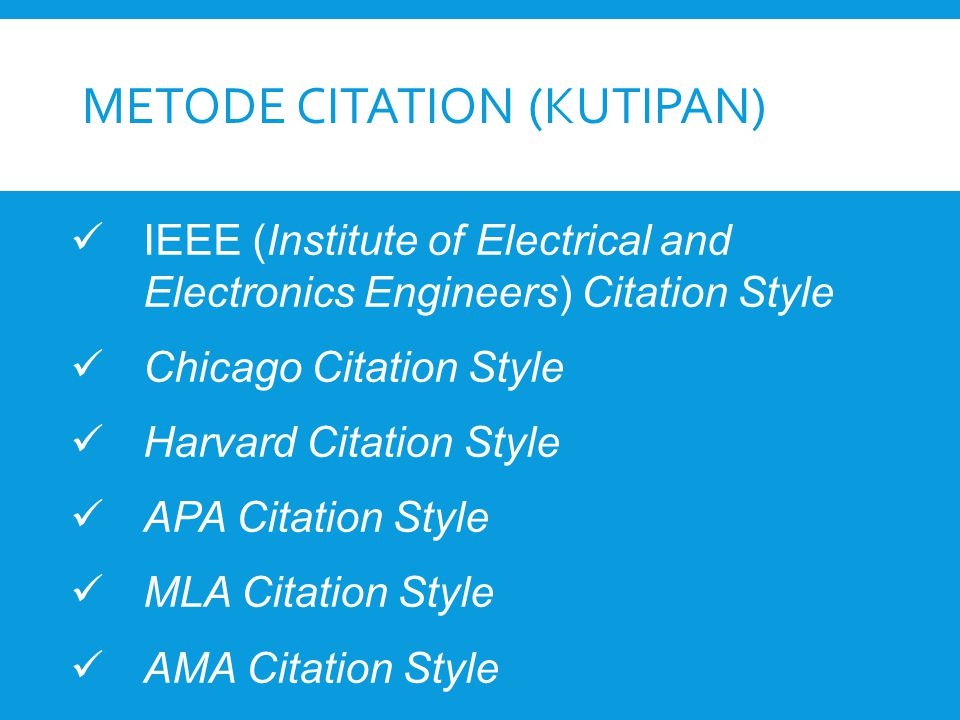 Metode citation (kutipan)