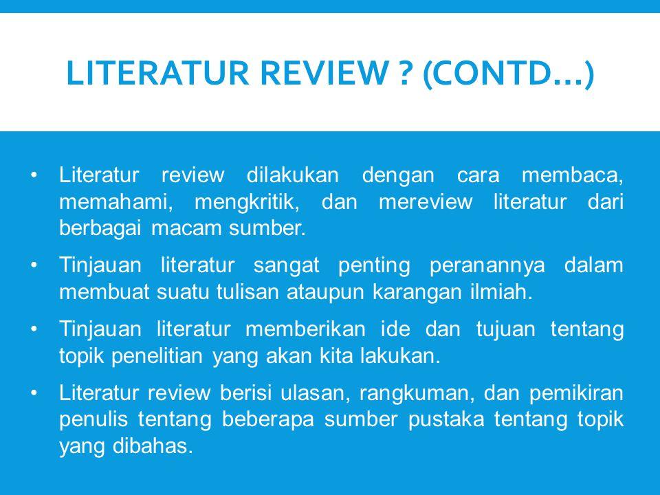 Literatur Review (Contd…)