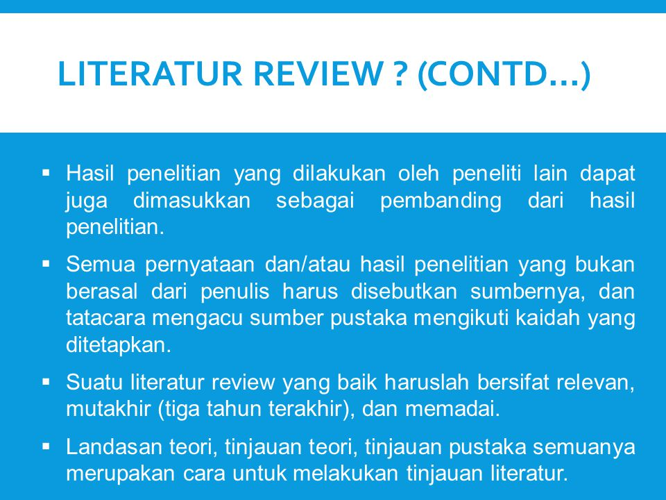 Literatur Review (Contd…)