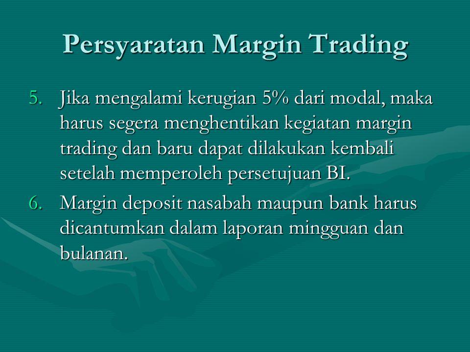 Persyaratan Margin Trading