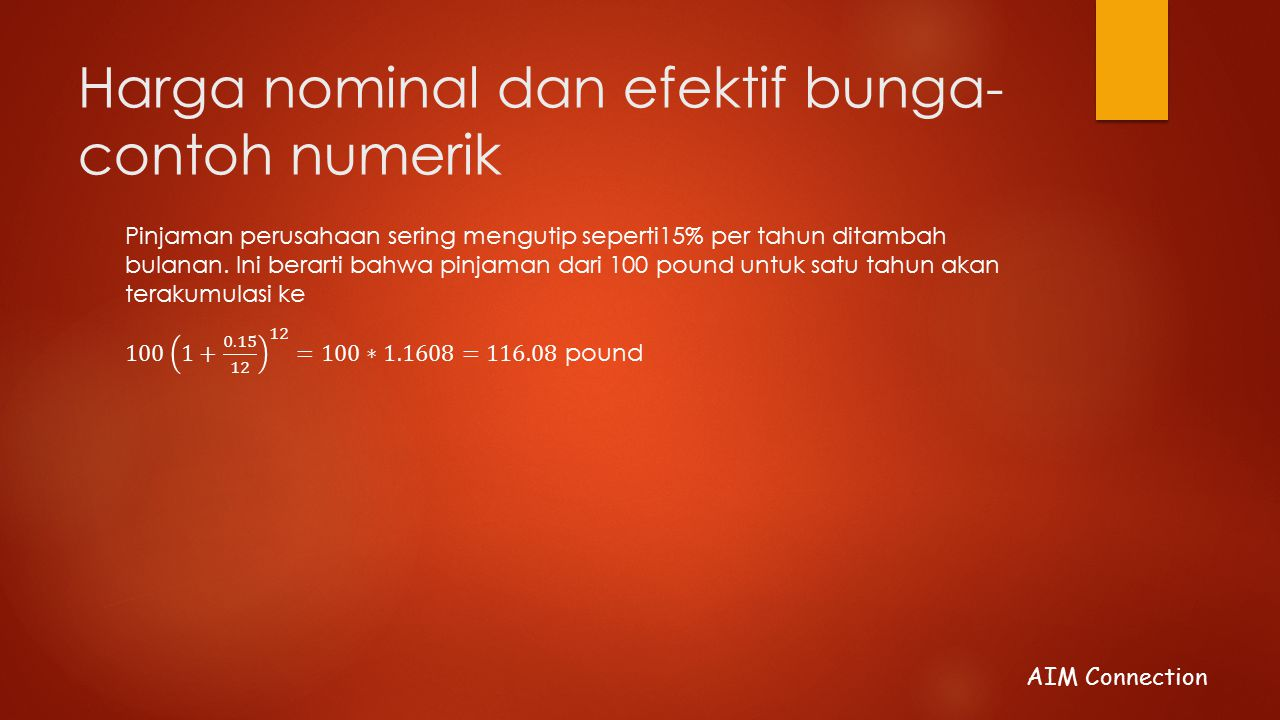 Harga nominal dan efektif bunga-contoh numerik