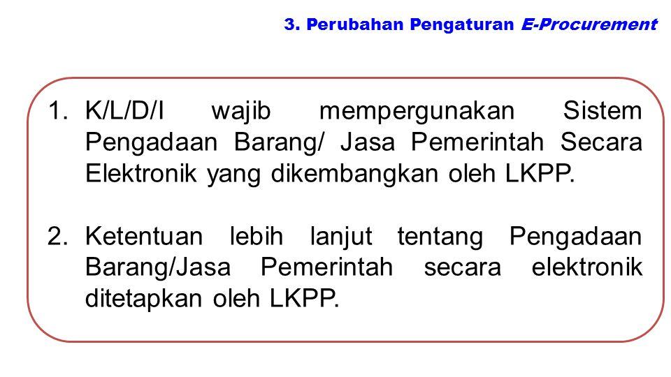 3. Perubahan Pengaturan E-Procurement
