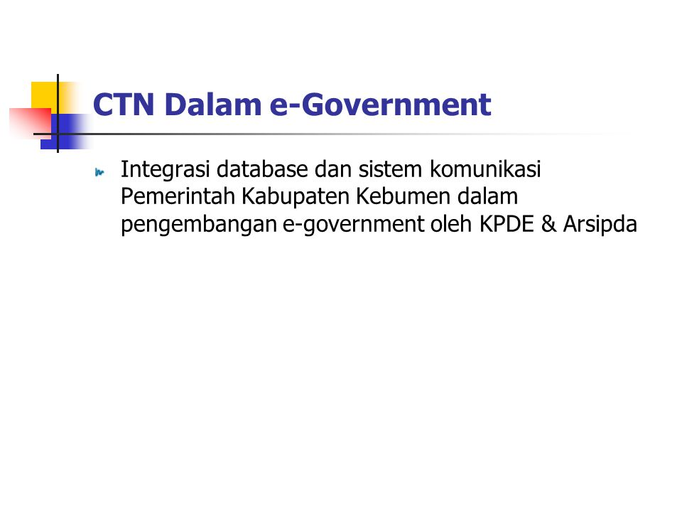 CTN Dalam e-Government