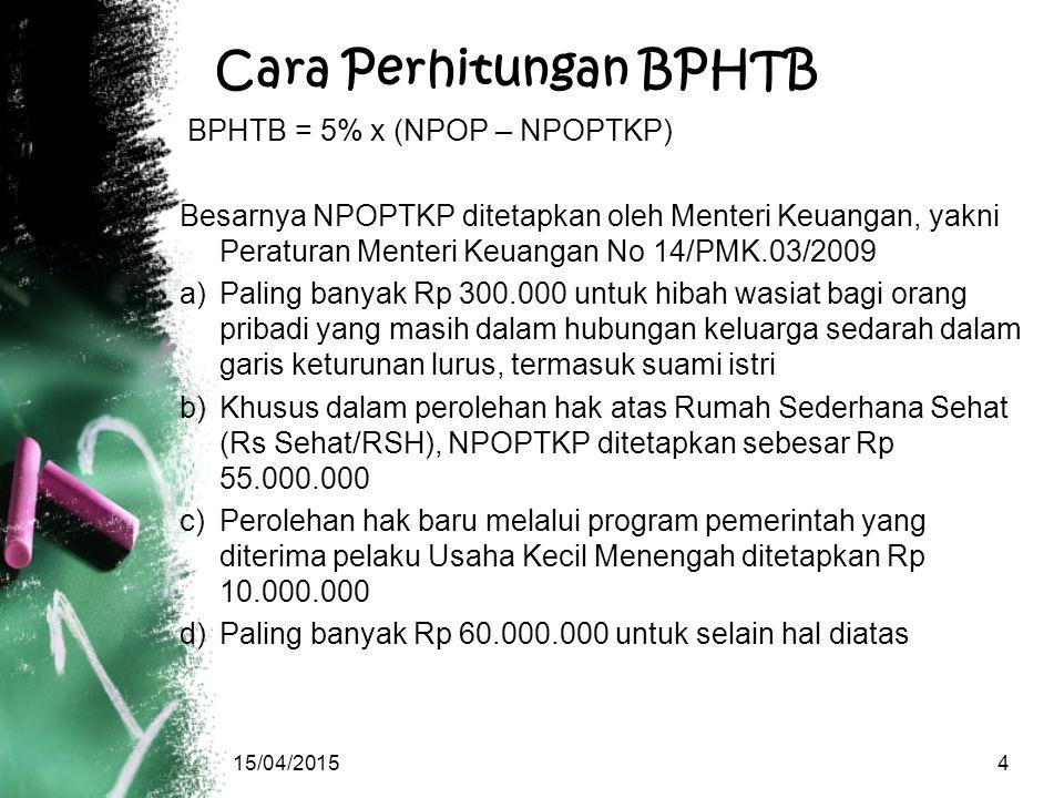 Cara Perhitungan BPHTB