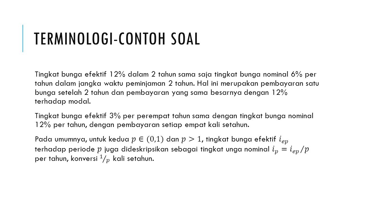 Terminologi-Contoh soal