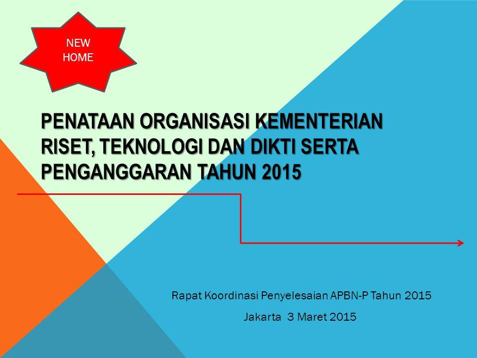Rapat Koordinasi Penyelesaian APBN-P Tahun 2015