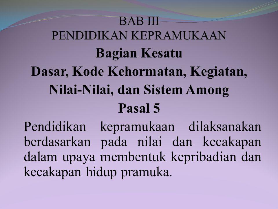 BAB III PENDIDIKAN KEPRAMUKAAN