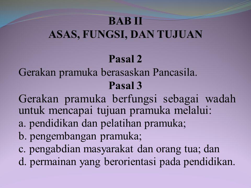 BAB II ASAS, FUNGSI, DAN TUJUAN