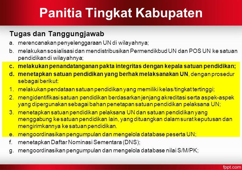 Panitia Tingkat Kabupaten