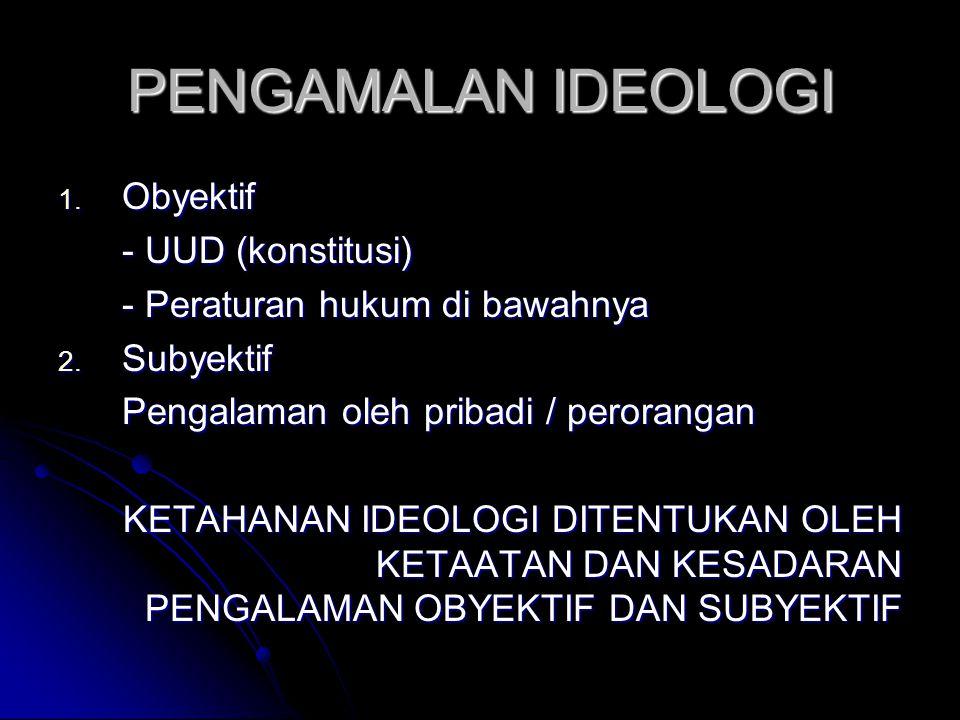 PENGAMALAN IDEOLOGI Obyektif - UUD (konstitusi)