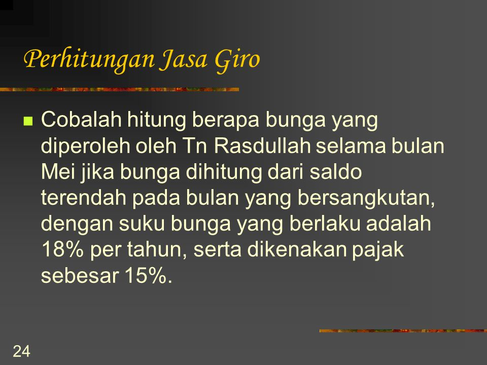 Perhitungan Jasa Giro