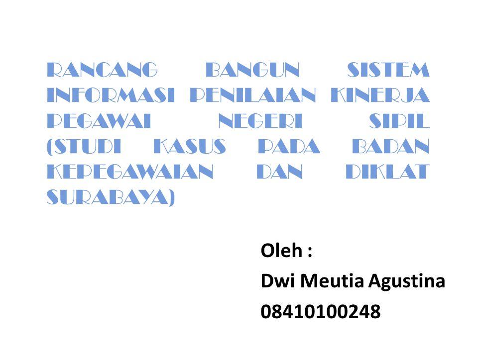 Oleh : Dwi Meutia Agustina 08410100248