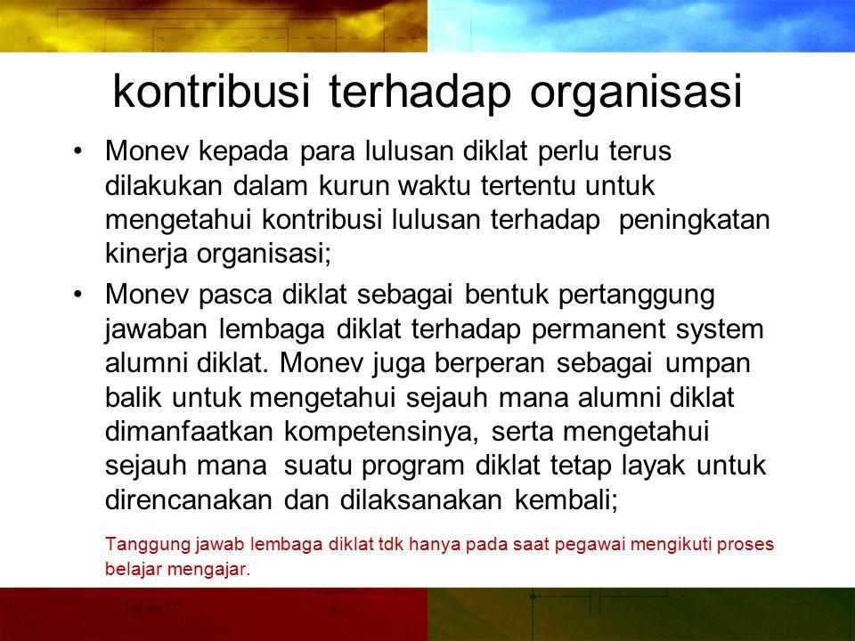 kontribusi terhadap organisasi