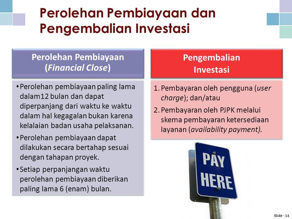 Perolehan Pembiayaan dan Pengembalian Investasi