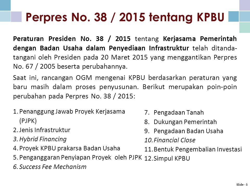 Perpres No. 38 / 2015 tentang KPBU