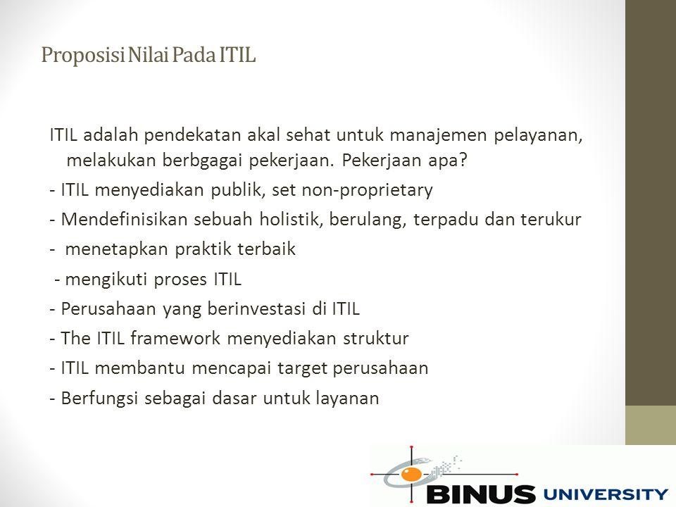 Proposisi Nilai Pada ITIL