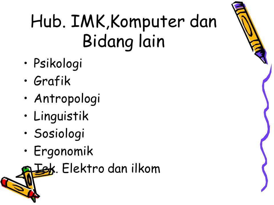Hub. IMK,Komputer dan Bidang lain